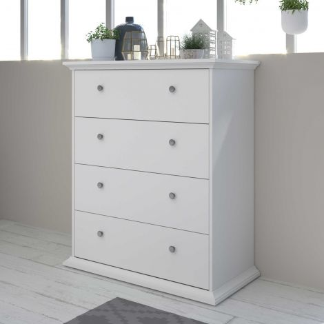 Commode Morgane 4 laden - wit