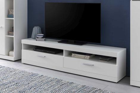 Tv-meubel Otis 160cm met wandplank - wit