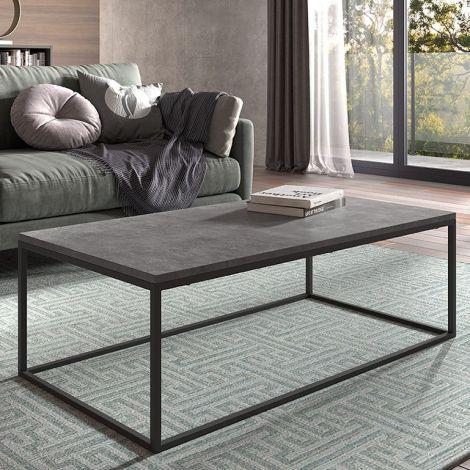 Salontafel Antonio 60x120 industrieel - beton