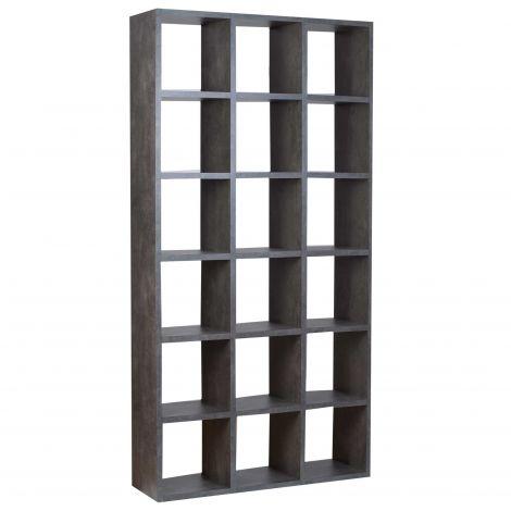 Boekenkast Pombal 18 vakken smal - beton