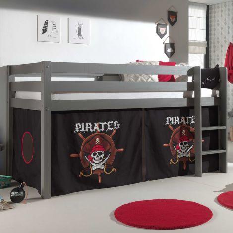 Halfhoogslaper Charlotte grijs - Pirates