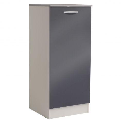 Keukenkast Spoon H140 cm met deur - glossy grey