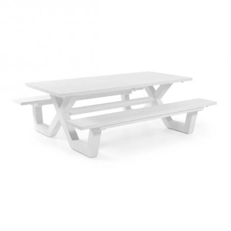 Picknicktafel Biabou 220x110 - wit