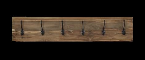 Kapstok Railwood - blank - teak