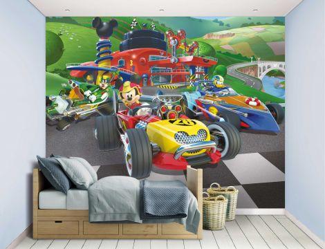 Kinderbehang Mickey Mouse Roadster Racers