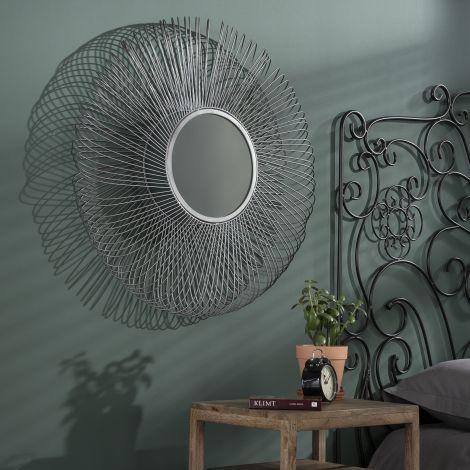 Spiegel Ø80 blade - Zwart nikkel