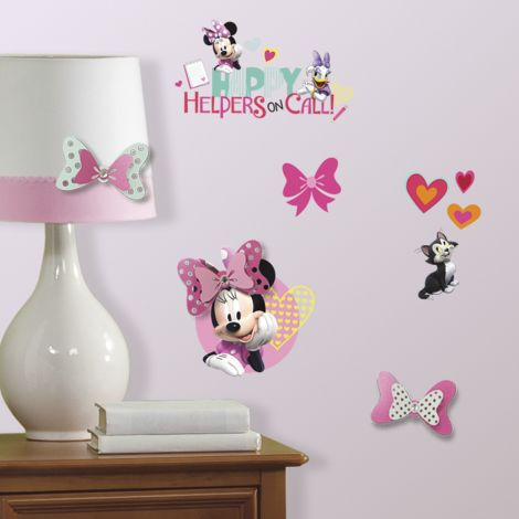 Muurstickers Minnie Mouse Happy Helpers