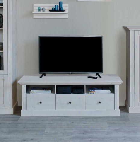 Tv-meubel Edmund 3 lades 145 cm - wit