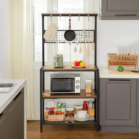 Keukenrek Babette - bruin/zwart