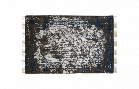 Vloerkleed - katoen - 180x120 cm - teal / beige