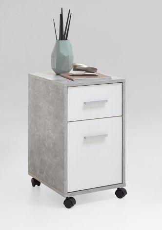 Ladeblok Sneek - beton/wit
