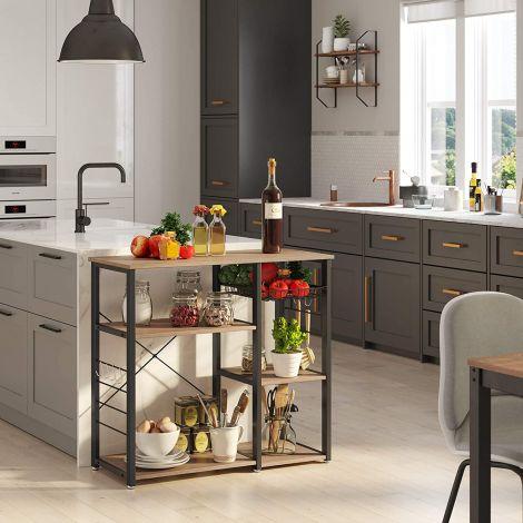 Keukenrek Valerio - grijs/zwart