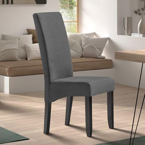 Set van 2 stoelen Joan polyester - antraciet