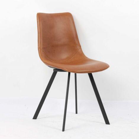Set van 2 stoelen Norway - cognac