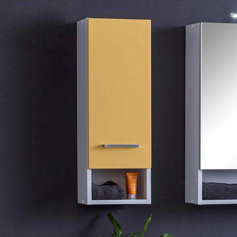 Hangkast Ricca 25cm 1 deur - wit/geel