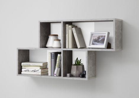 Wandrek Nora - beton/wit