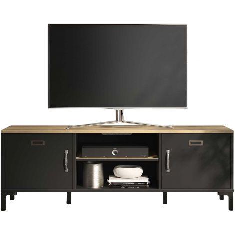 Tv-meubel Manno 136cm industrieel - zwart