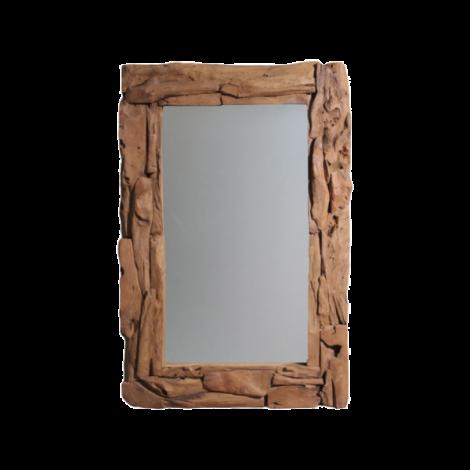 Wandspiegel Root 120x80cm – teak/wortelhout