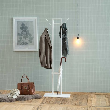 Kapstok Vinci met parapluhouder - wit