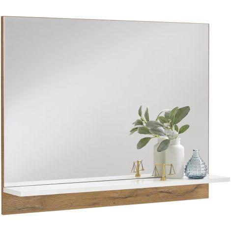 Spiegel Cristal - oude eik/hoogglans wit
