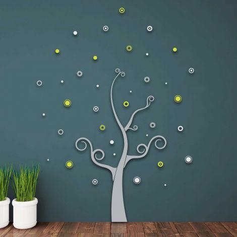 Muurstickers 3D Tree - schuimstickers