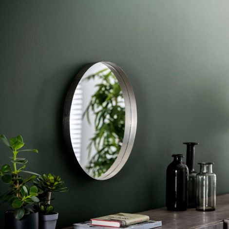Spiegel Ro Ø50 - antiek nikkel