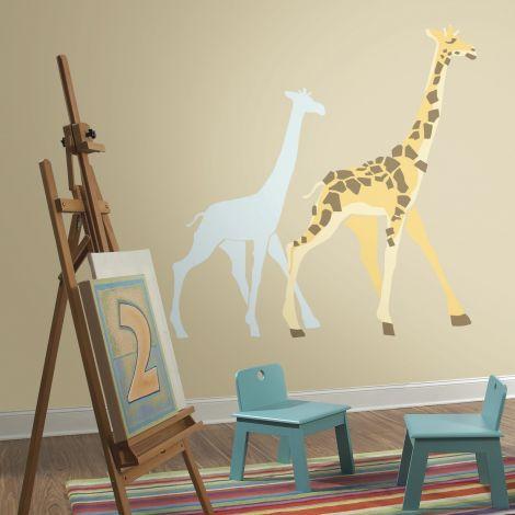 Muurstickers Giraffe