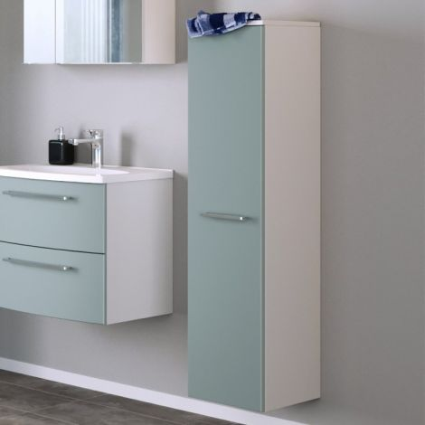 Kolomkast Gene 30cm 1 deur - wit/groen