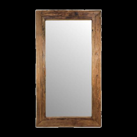 Wandspiegel Rustika 120x80cm – drijfhout/teak