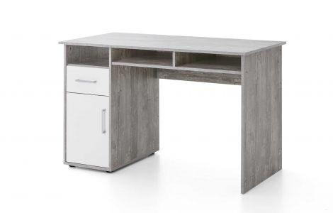 Bureau Maxi-office 125cm - beton/wit