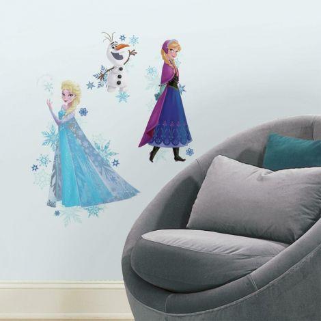 Muurstickers Disney Frozen Anna, Elsa & Olaf