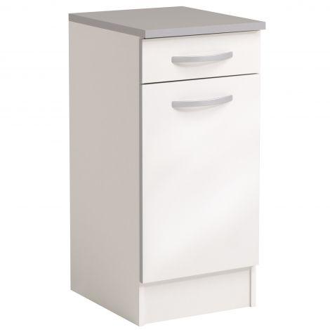 Onderkast Spoon 40x47 cm met lade en deur - glossy white