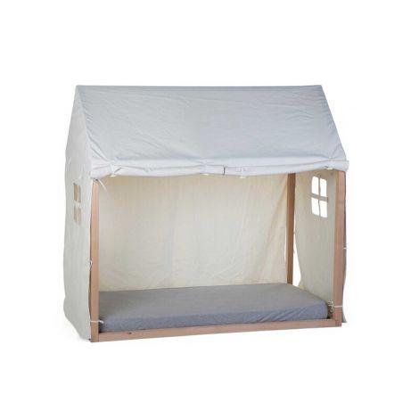 Bedtent voor bedframe Huis 70x140 - wit