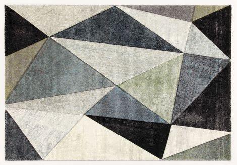 Vloerkleed Angles 300x200 - grijs/lichtgroen