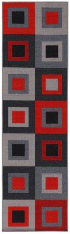 Vloerkleed Joy 200x140 – Grijs/rood