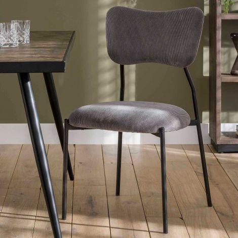 Set van 4 stoelen Tibo - donkergrijs