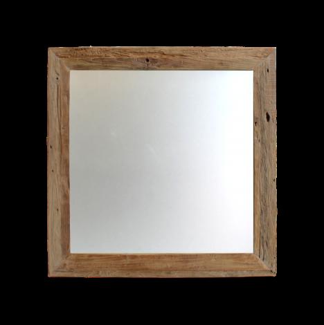 Wandspiegel Rustiek - 90x90 cm - drijfhout teak