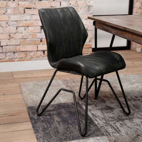 Set van 2 stoelen Brix - antraciet