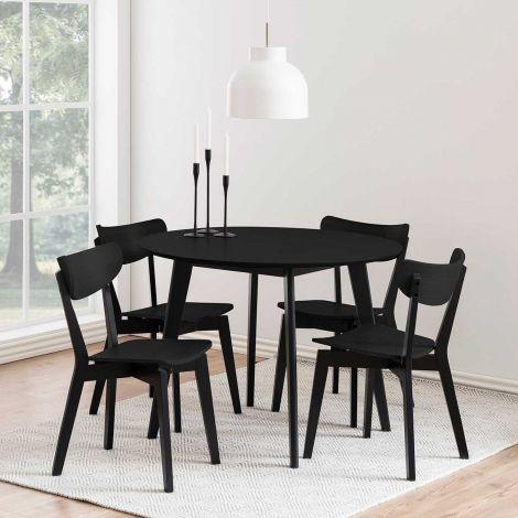 Eettafel Rover Ø105 - zwart