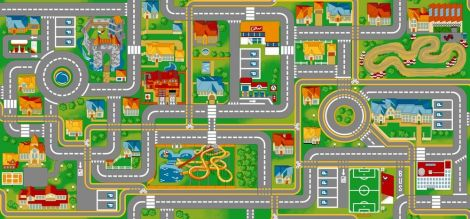Tapijt Play City - 140x200