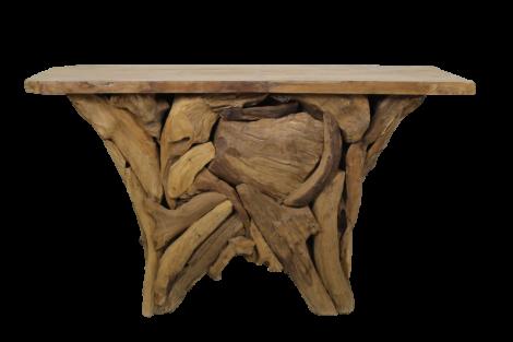 Sidetable Root Tempel- blank - teak