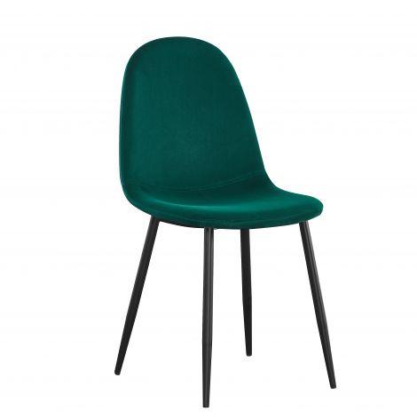 Set van 4 stoelen Jo fluweel - groen