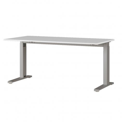 Bureau Osmond 160cm mechanisch verstelbaar - lichtgrijs/zilver