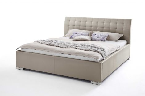 Bed Isa Comfort 200x200cm - taupe