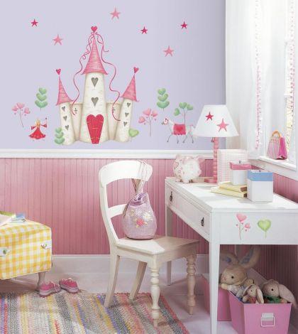 RoomMates muurstickers - Kasteel en prinses