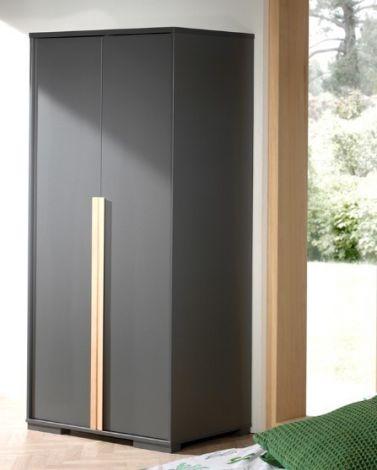 Kledingkast London 98cm met 2 deuren - antraciet