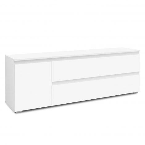 Tv-meubel Image 2 laden & 1 deur - wit