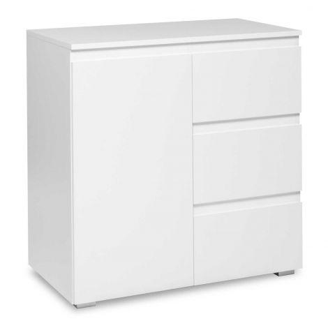 Bijzetkastje Image 1 deur & 3 laden - wit