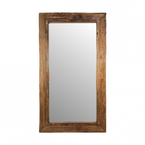 Wandspiegel Rustika 200x100cm – drijfhout/teak
