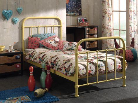 Geel Kinderbed metaal New York - Vipack